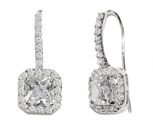 Adelaide Cubic Zirconia Wedding Earrings, Crystal Bridal Earrings